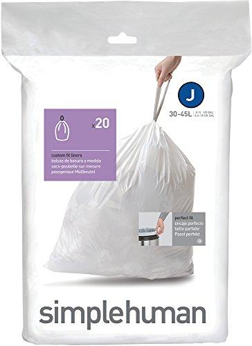 simplehuman, Code J passgenaue Müllbeutel Packung mit 20