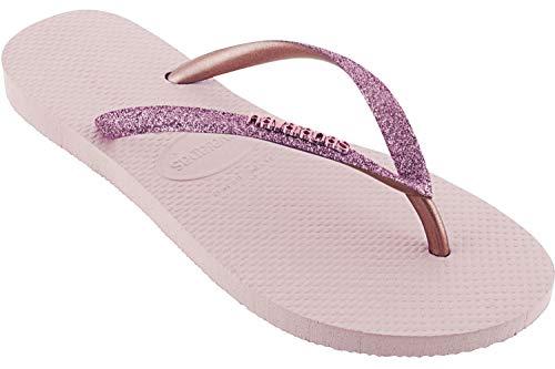 Havaianas Slim Glitter Flip Flops Women Pink - 9/9.5 - Flip Flops Shoes