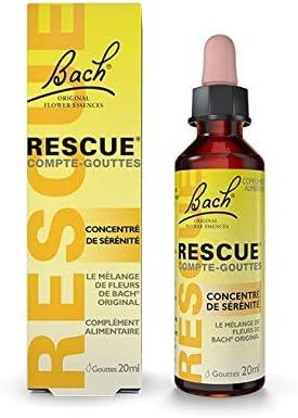 Rescue Compte-gouttes, La sérénité à portée de main, formule originale, Vegan, Complément alimentaire, 1 Flacon Compt...