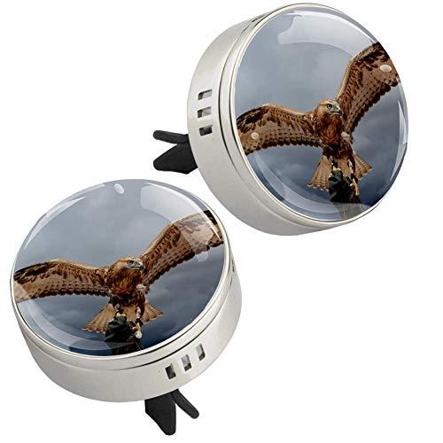 Z&Q Auto Diffuser Luftbefeuchter für Wilder Adler Auto Lufterfrischer zum Nachfüllen Kommt mit 4 PE zusätzlichen Pads öl Diffusor 33.8mmX46.4mm