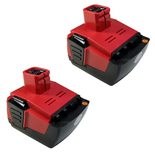 2X Trade-Shop Premium Li-Ion Akku, 14,4V 4000mAh für Hilti SF 144-A SF144-A SF 144A SFH 144-A SFH 144-A SFH 144A