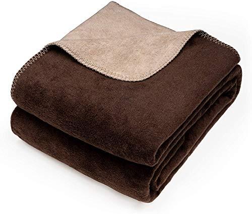 søstre & brødre Kuscheldecke Wendedecke | Edle und kuschelig weiche TV-Decke | Sofadecke Zertifiziert nach Öko-Tex 100 | Die Decke ist Made IN Europe | 150x200 cm - Braun-Creme