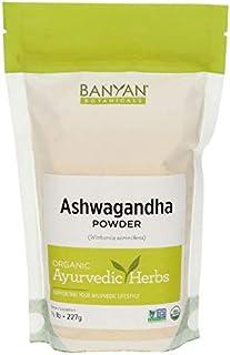 Banyan Botanicals Organic Ashwagandha Root Powder - 1/2 LB - Indian Ginseng - Adaptogen Supplement Promotes & Supports Vit...