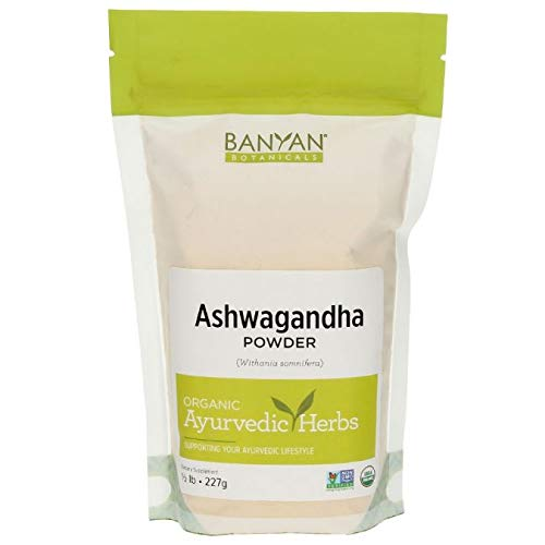 Banyan Botanicals Organic Ashwagandha Root Powder - 1/2 LB - Indian Ginseng - Adaptogen Supplement Promotes & Supports Vitality, Strength, Sleep, Adrenal Health, Calming The Mind & Combating Stress **