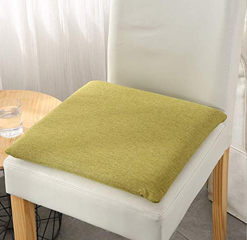 DUIPENGFEI Nordic Solid Color Memory Foam Cushion, Student Classroom Living Room Chair Cushions Are Breathable All Seasons, Green, 40 * 40cm