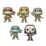 Funko Pop! Bundle of 5: Teenage Mutant Ninja Turtles - Raphael, Michelangelo, Donatello, Leonardo and Casey Jones
