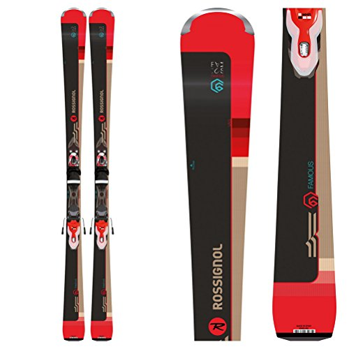 Rossignol Famous 6 Damen-Ski + Xpress W 11 B83 Bindung Black/Red - 149 cm