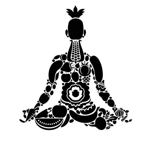 Yoga Pared Meditación Estilo de vida saludable Estudio de yoga Decoración del hogar Frutas Verduras