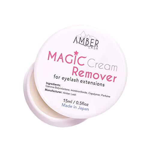 Amber Lash Magic Cream Remover for Eyelash Extension 15ml Sensitive Skin   OIL-FREE   Gentle   NO IRRITATION   LEAK PROOF