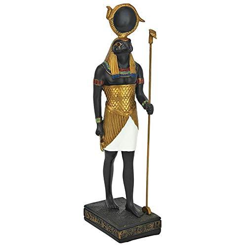 Design Toscano QL12241 The Egyptian Sky God Horus Statue, 8 inch, Full Color