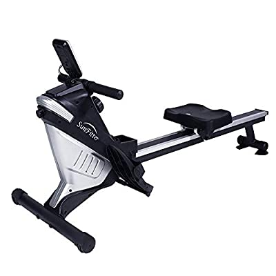 Magnetic Rowing Machine Rower 8 Level Resistance Cardio Training Row Machine Fitness for Home Use Workout, 220 LB Max Weight