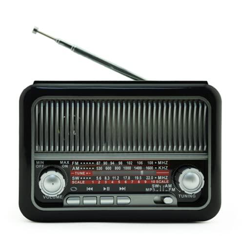 レトロブルートゥースラジオ太陽ラジオブルートゥーススピーカー手充電式太陽充電(14 * 8 * 9.7cm)