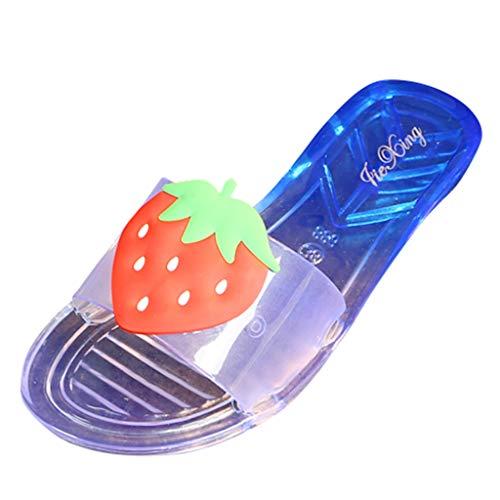 Dasongff Damen Sandalen Slipper Rutschfest Mode Durchsichtig Hausschuh Sandaletten 3D Obst Damenschuhe Freizeit Sommer Strandsandalen Badeschlappen Flip Flops