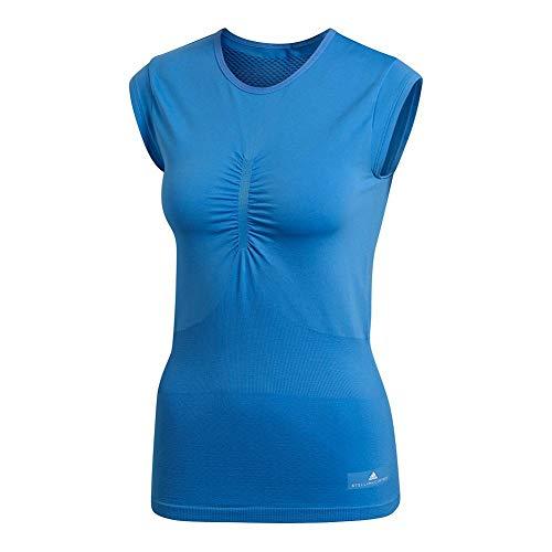 adidas Stella McCartney Barricade - Camiseta de tenis para mujer - Azul - Small