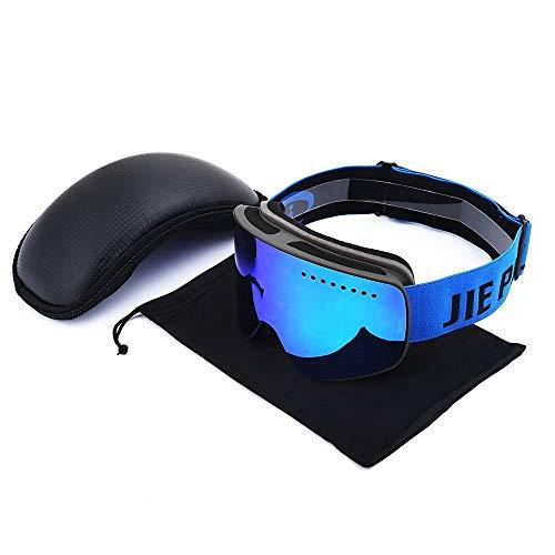 Yi-xir diseño Clasico Gafas de esquí Imán cilíndrico Imán Nuevos Hombres Escalada al Aire Libre Treble Lente Gafas de esquí Gafas de antifogging Moda (Color : 3, Size : 20 * 10cm)