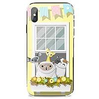 Xiaomi Mi 10 ケース Lite 5G カバー 耐衝撃 スマホケース 純正 全機種対応 窓の上の猫の群れ かわいい アニメ アニマル 8861503