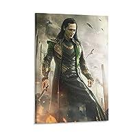 Loki 映画キャンバス アート ポスターとウォール アート イメージ プリント モダンな家の寝室のインテリア ポスター 16×24inch(40×60cm)
