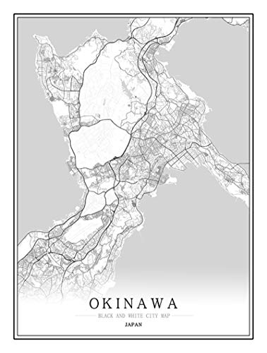 QWJYREMN Adult Puzzle Okinawa City Map Wooden Jigsaw Unzip Toys Adults Games Jigsaw Birthday Gifts for Adult Exercise Perseverance Jigsaw Gift for Educational Toys Decorative,500