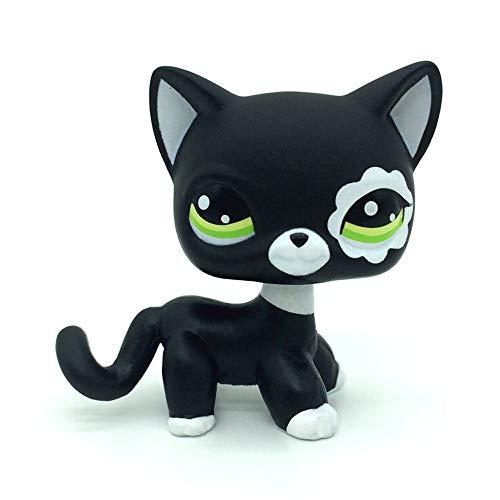 jjlin Mini Pet Shop Rare Black Short Hair Cat Kitty Animal Figure Tpy LPS #2249