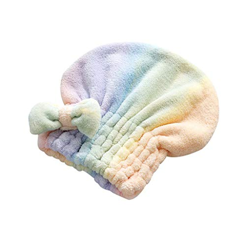 S-TROUBLE Coloré Corail Velours Cheveux Secs Séchage Rapide Sèche Serviette Capuchon Absorbant Bain De Douche