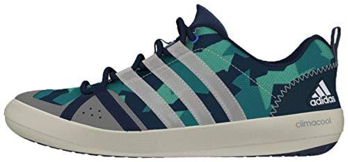 adidas Sailing Damen Herren Segelschuhe Camouflage Deckschuhe, Farbe:Mint Blue/White/Green, Größe:40 2/3 EU