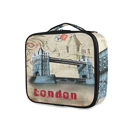 Portable Voyage Trousse De Toilette Pochette De Stockage Outils Cosmétique Train Case Maquillage Sac Rêve De Londres