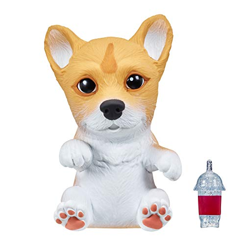 OMG Pets - Soft and Squishy Interactive Tactile Puppy Comes to Life, Cries and Eats - Corgi