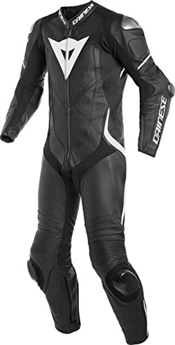 Dainese Delta 3per uomo pelle moto pantaloni nero/nero/bianco 48Euro/33ee. USA.