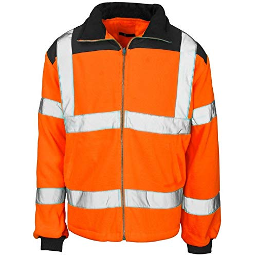 YCC® Abrigo para hombre de alta visibilidad con parche de lluvia con...
