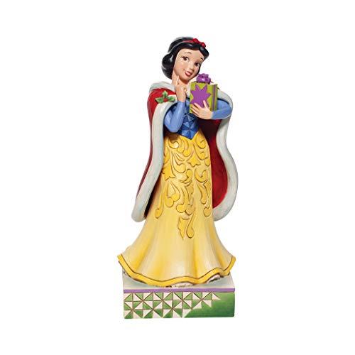 Enesco Jim Shore Disney Traditions Christmas Snow White Figurine, 6.7 Inch, Multicolor