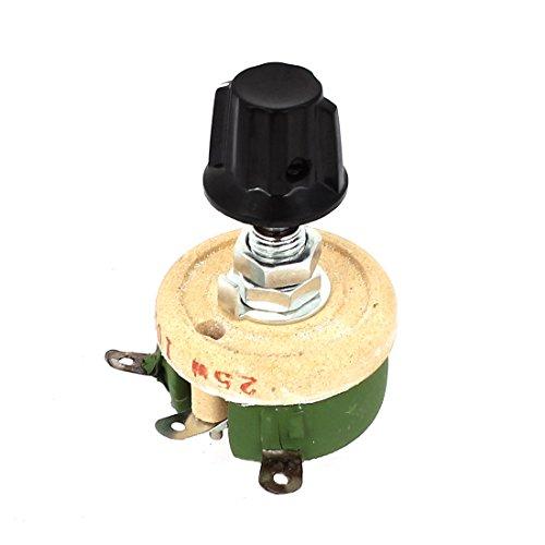 uxcell 25W 100 Ohm Round Ceramic Wirewound Potentiometer Resistor Rheostat