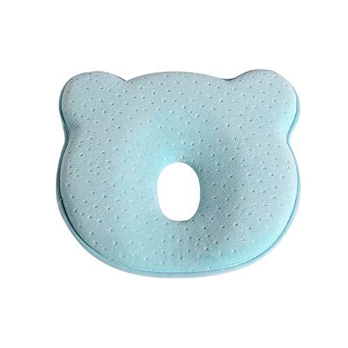 Almohadas de espuma viscoelástica para bebés Almohadas transpirables que dan forma al bebé para evitar la almohada ergonómica de cabeza plana para recién nacidos