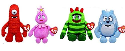 Yo Gabba Gabba 5' TY Plush Beanie Babies - set of 4 (Muno, Toodee,Brobee,Foofa) by Ty