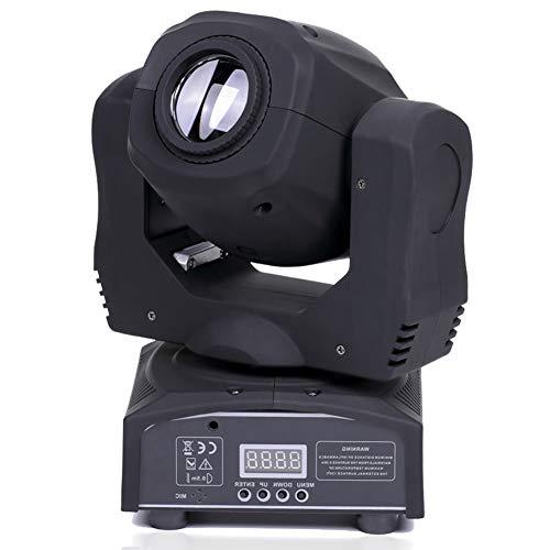 U`King - Foco LED de cabeza móvil de 4 colores Gobos Luz DMX con Show KTV Disco DJ Party para iluminación de escenario (negro)