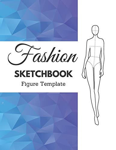 Fashion Sketchbook Figure Template: 375 Large Female Figure Template for Easily Sketching Your Fashion Design Styles and Building Your Portfolio (professional thin lines)