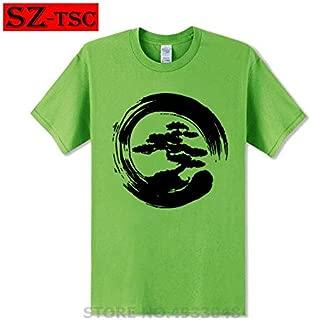 2019 New Summer Men Tee Shirt Miyagi Do Karate Bonsai Tree in Enzo Circle Tshirt Cool Cotton T-Shirt:1, XS