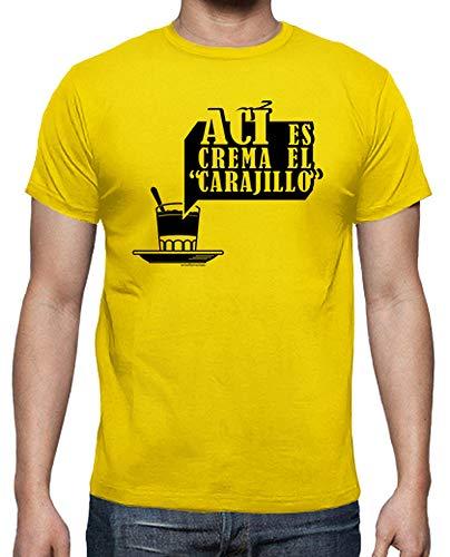 latostadora - Camiseta AC para Hombre Amarillo limón L