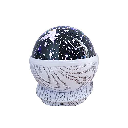ZHANG LED-projectorlamp voor kinderen, USB-nachtlampje, romantische hemel sterrenhemel cadeau-idee voor volwassenen, verjaardag, Kerstmis en feest