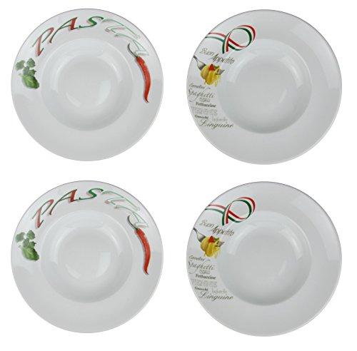 Retsch Arzberg Pastateller (mit Dekor) mit Pastalöffel im Set Pasta/Ø 30cm (4er Set)