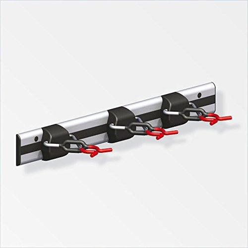 SECOTEC® Geräteleiste coaxis x-star 500 mm mit 3 Gerätehalter Besenhalter Gartengerätehalter