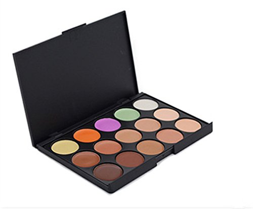 Pure Vie® 15 Couleurs Palette de Maquillage Correcteur Camouflage Crème Cosmétique Set - Convient Parfaitement pour une Utilisation Professionnelle ou