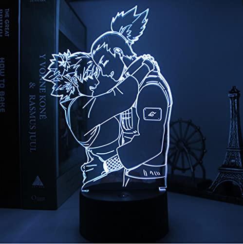 Lámpara 3D De Anime Naruto, 7 Colores, Luces De Noche Led, Regalos Para Habitación De Amigos,...