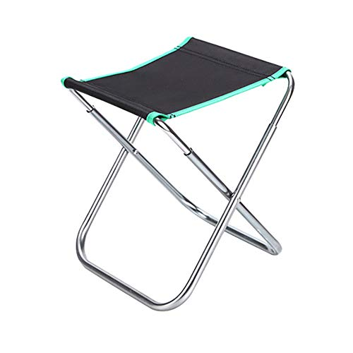 XIAOHE Chaise de Camping Portable, Chaise de Sac à Dos Pliante compacte et Ultra légère avec Sac fourre-Tout, Sports de Plein air, randonnée, pêche sur la Plage, Petit Mazza,Green