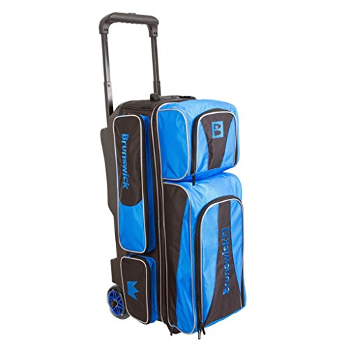 Brunswick Crown Triple Roller Bowling Bag, Royal