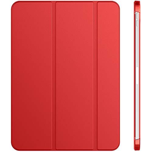 JETech Funda Compatible con iPad Air 4.a Generación 2020 10,9 Pulgadas, Carcasa con Auto-Sueño/Estela (Rojo)