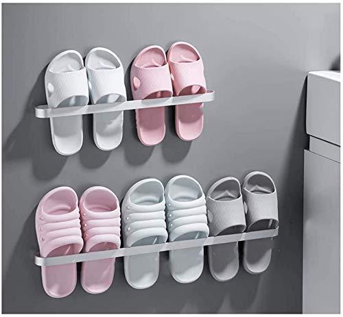 aipipl Estante de Zapatos Multifuncional, Zapatero de Metal montado en la Pared para Entrada sobre la Puerta Gabinete de Zapatos de baño, Organizador de Perchas de Zapatos Estantes de almacenamient
