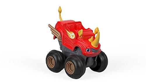 Blaze- Rinoceronte Schiaccia e Sfreccia-Macchinina Monster Truck Giocattolo 3+ Anni, Multicolore, FHV04