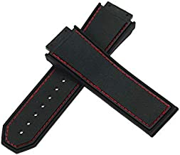ROUHO 29X19Mm Reemplazo De Goma De Silicona Correa Banda De Reloj para Hengbao Hublot Hublot Supreme Series F1-Rojo