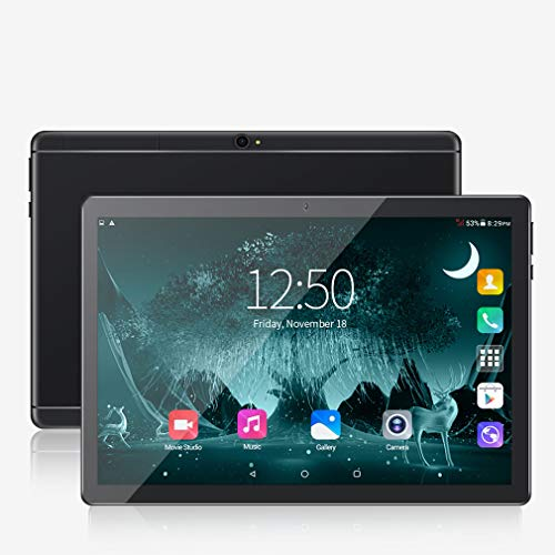 10 inch Android Tablet PC, 5G Wi-Fi, 4GB RAM,64GB ROM, Octa -Core Processor, IPS HD Display, 3G Phablet with Dual Sim Card Slots, WiFi, Bluetooth, GPS, Penen Tablets for Kids,M2 (Black)