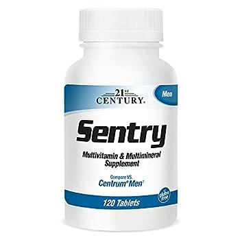 21st Century Sentry Men Multivitamins with Minerals White No Flavor 120 Count